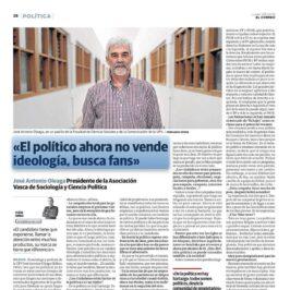 Entrevista a J. A. Oleaga en EL CORREO